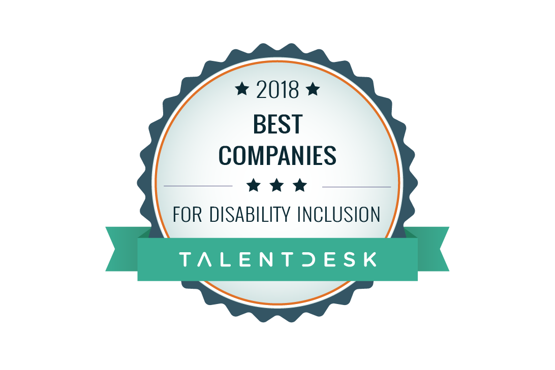 best companies for disability inclusion award badge