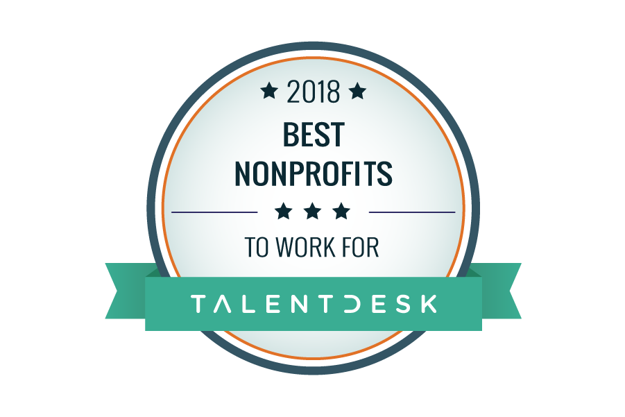 best nonprofits to work for talentdesk 2018 badge