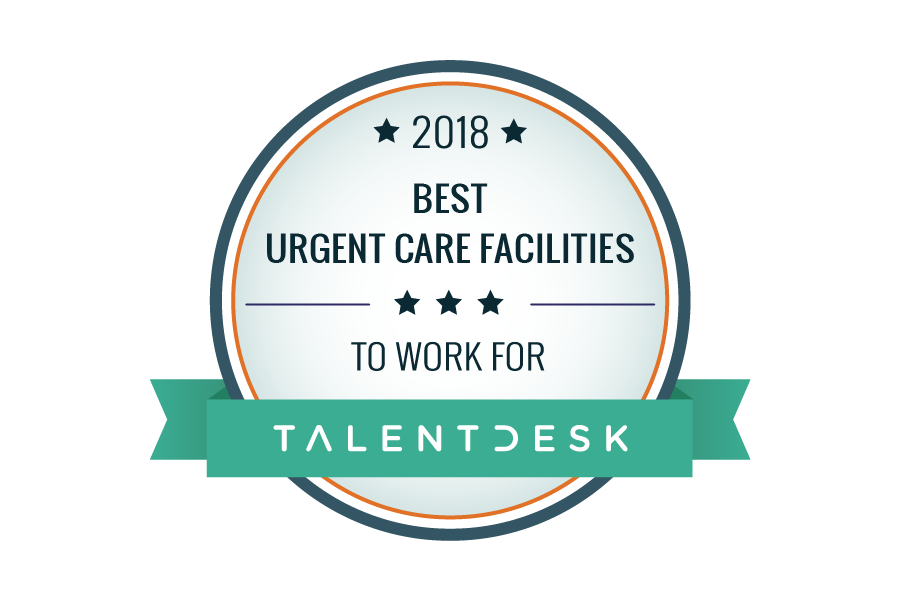 best urgent care facilities 2018 badge